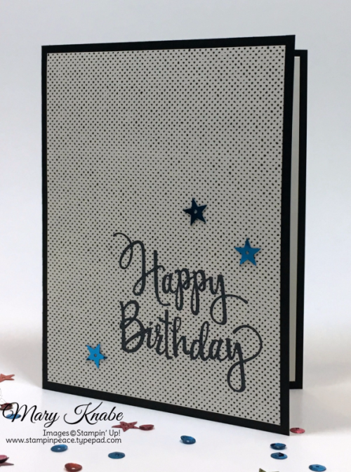 Stylized Birthday stamp, Urban Underground Designer Series Paper