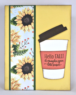 Merry Cafe Stamp Set, Coffee Cup Framelits, Painted Autumn Designer Series Paper