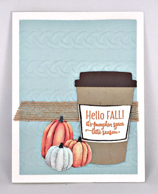 Merry Cafe Stamp Set, Coffee Cups Framelits, Painted Autumn Designer Series Paper