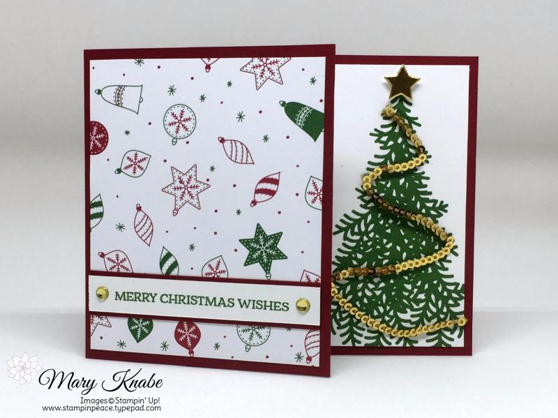 Be Merry Designer Series Paper, Ready for Christmas stamp set, Santa's Sleigh stamp set,