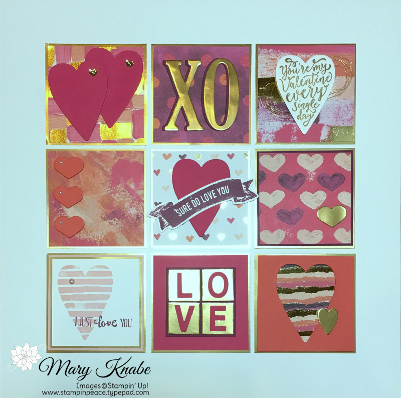 Sure Do Love You Stamp Set, Painted with Love Specialty Designer Series Paper, Petal Palette Stamp Set, Large Letters Framelits Dies,