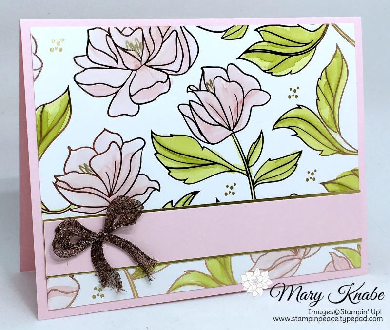 Springtime Foils Specialty Designer Series Paper (2018 SAB), Stampin' Blends