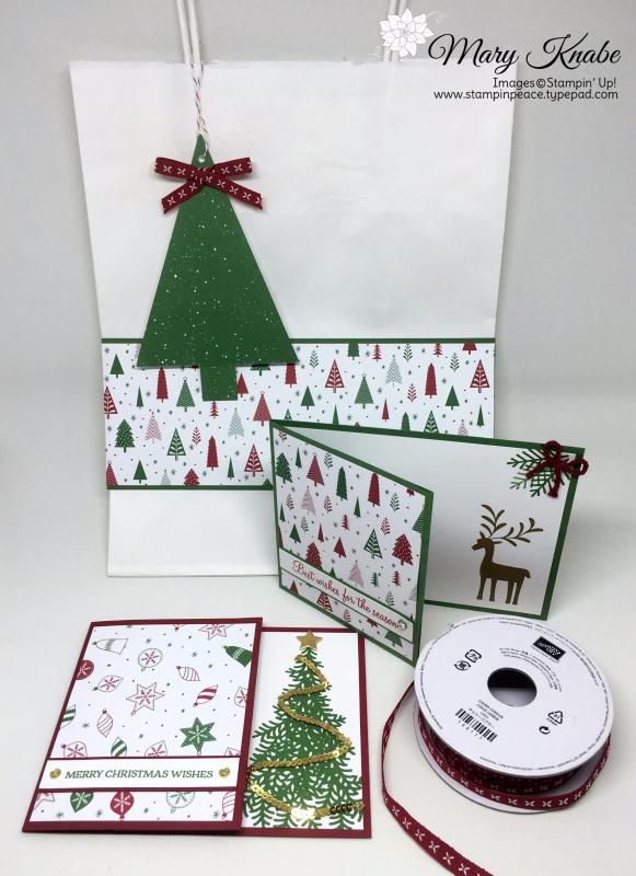 Be Merry Designer Series Paper, Merry Mistletoe Stamp Set, Ready for Christmas Stamp Set, Santa's Sleigh Stamp Set,