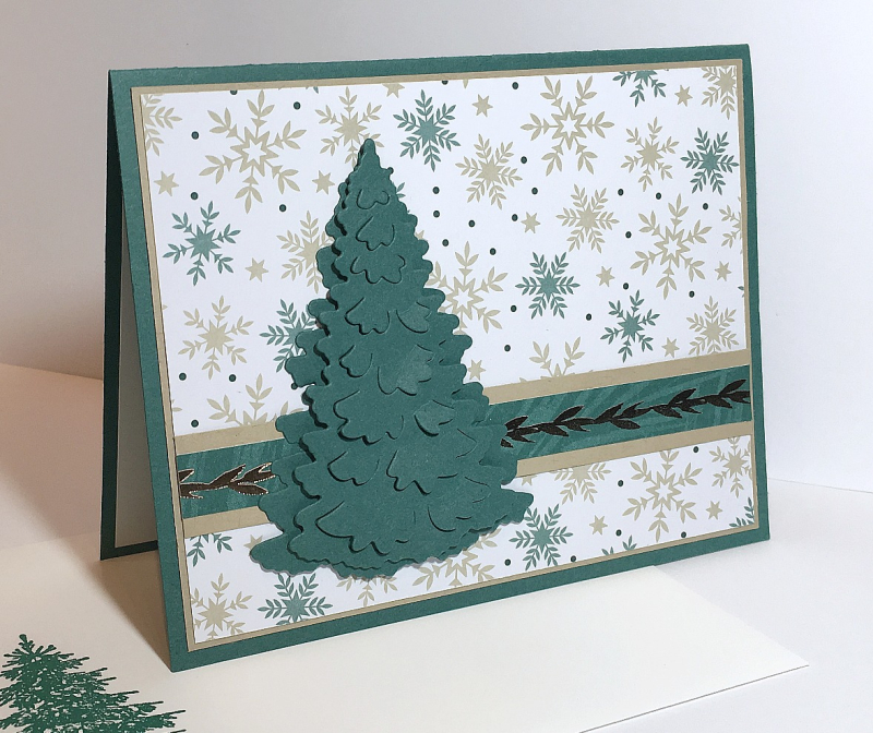 Joyous Noel DSP + Into the Woods Framelits Dies - Stampin' Up! 2018 Holiday Catalog