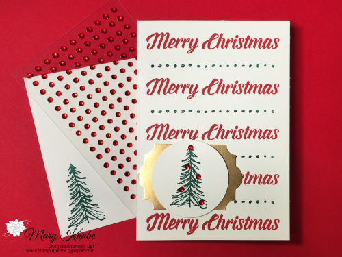 Stamparatus Hinge stamping, Timeless Tidings stamp set
