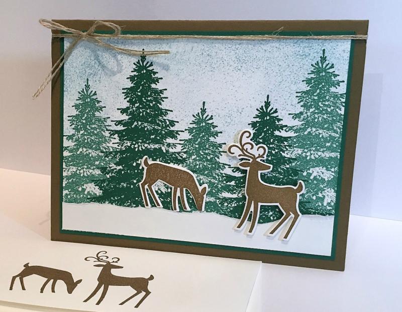 Dashing Deer Bundle & Winter Woods Stamp Set - Stampin' Up! 2018 Holiday Catalog