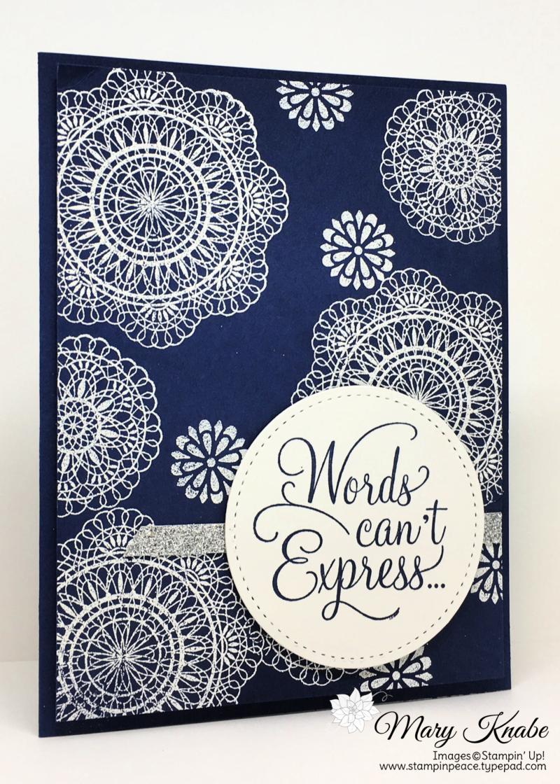 Dear Doily Cling Stamp Set, Stitched Shapes Framelits Dies by Stampin' Up!
