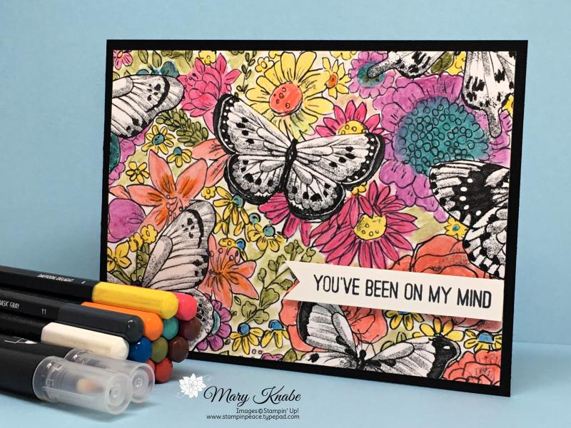 Botanical Butterfly DSP, Watercolor Pencils & Blender Pens