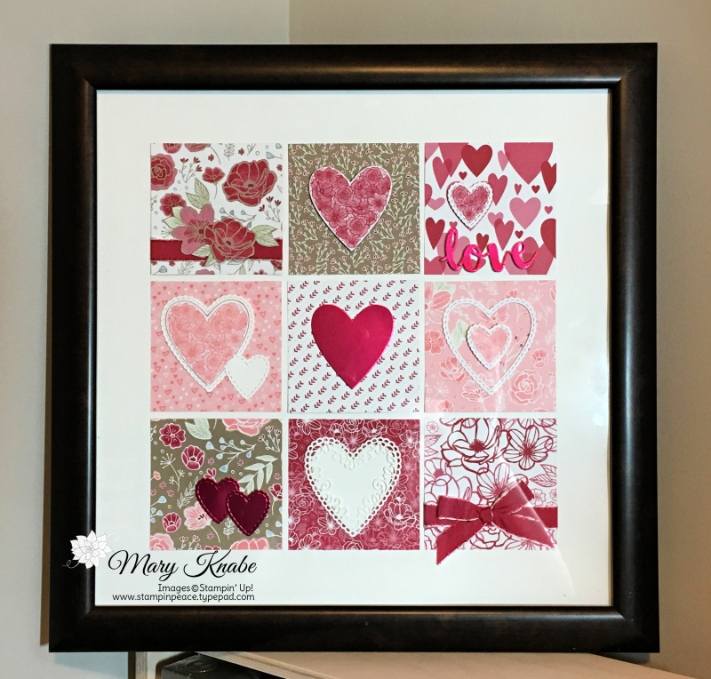 All My Love Designer Series Paper & Be Mine Stitched Framelits Dies by Stampin' Up!