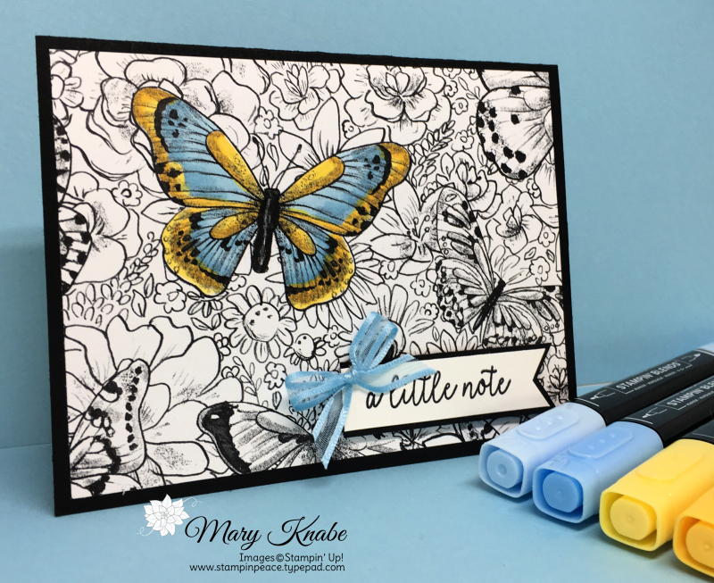 Botanical Butterfly DSP, Balmy Blue & Daffodil Delight Stampin' Blends