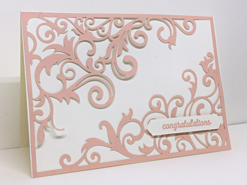 Beautifully Detailed Laser-Cut Paper, Itty Bitty Greeting Stamp Set
