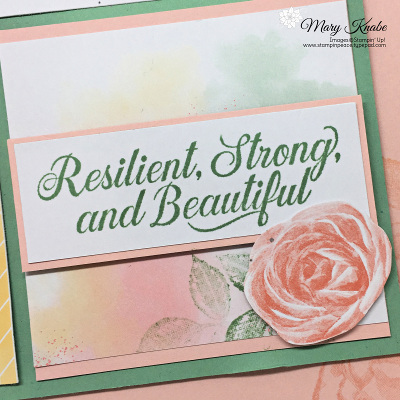 Sentimental Rose Paper Pumpkin Kit and Strong & Beautiful Stamp Set by Stampin' Up!
