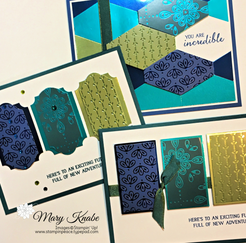 Noble Peacock Specialty Designer Series Paper, Noble Peacock Foil Sheets, & Royal Peacock Stamp Set by Stampin' Up!