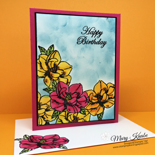 Magnolia Blooms Stamp Set with Masking Technique