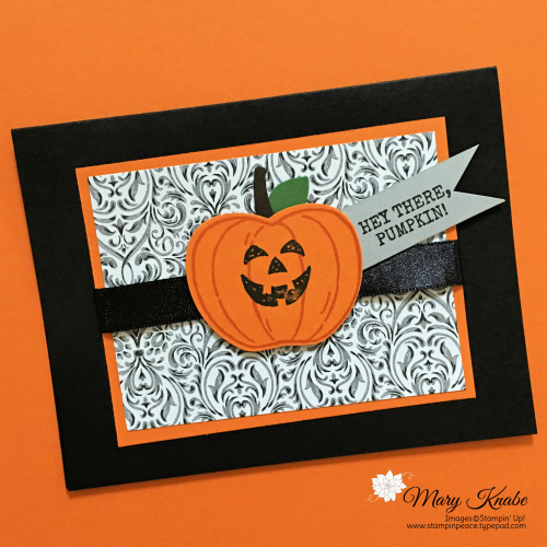 Harvest Hellos Stamp Set, Apple Builder Punch, & Monster Bash DSP by Stampin' Up!