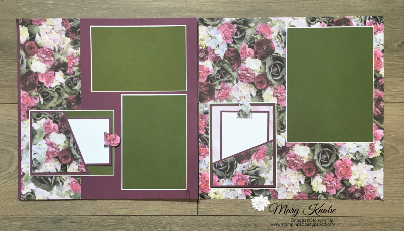 Petal Promenade Designer Series Paper  and Mossy Meadow and Fresh Fig cardstock by Stampin' Up!