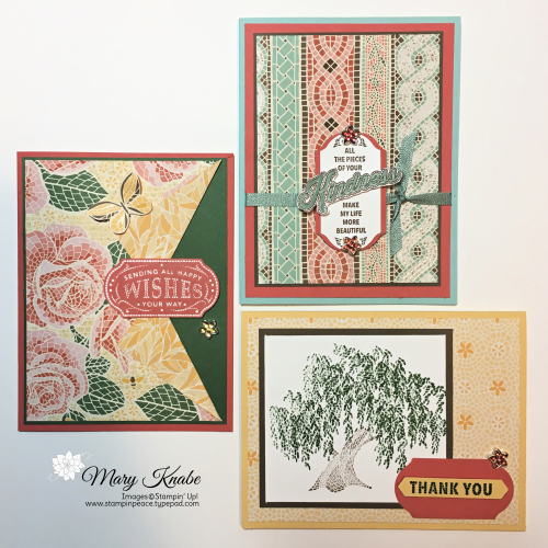 Memorable Mosaic Stamp Set, Timeless Label Punch, & Mosaic Mood Designer Series Paper by Stampin' Up!