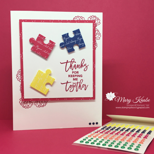 Love You to Pieces Stamp Set & Puzzle Pieces Dies