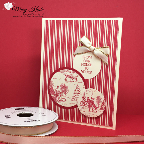 Toile Tidings Designer Series Paper & Itty Bitty Christmas Stamp Set by Stampin' Up!