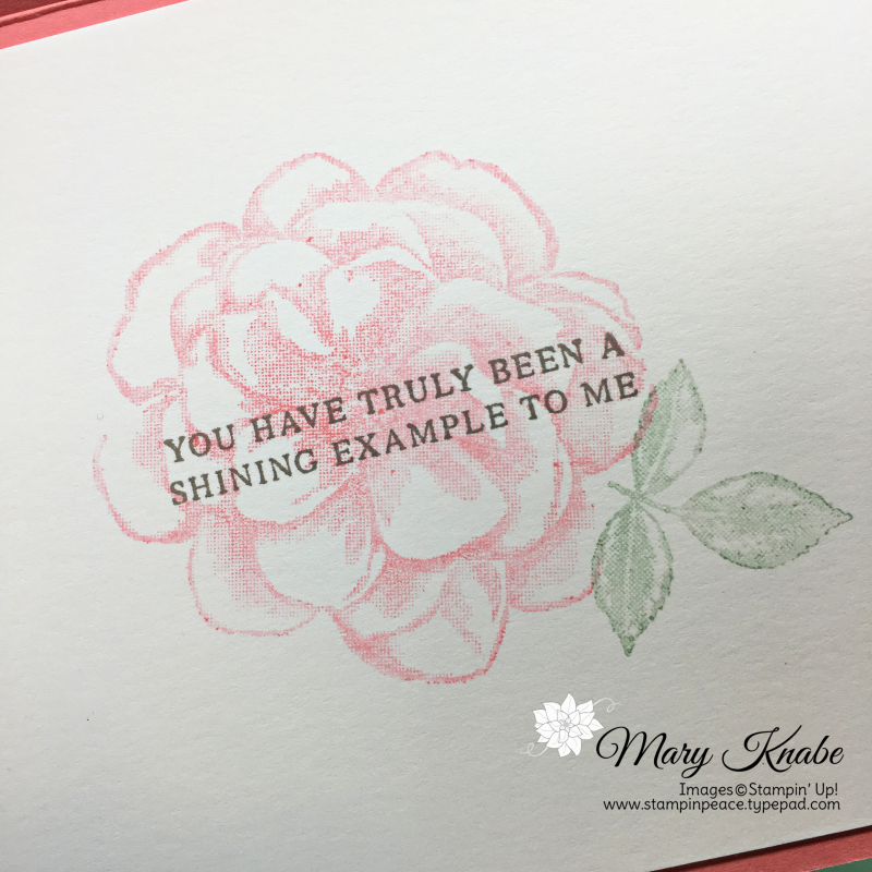 Strong & Beautiful stamp set & Sentimental Rose Paper Pumpkin Distinktive stamp set