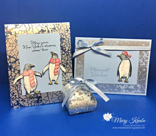 Mercury Glass Designer Acetate & Playful Penguins Stamp Set