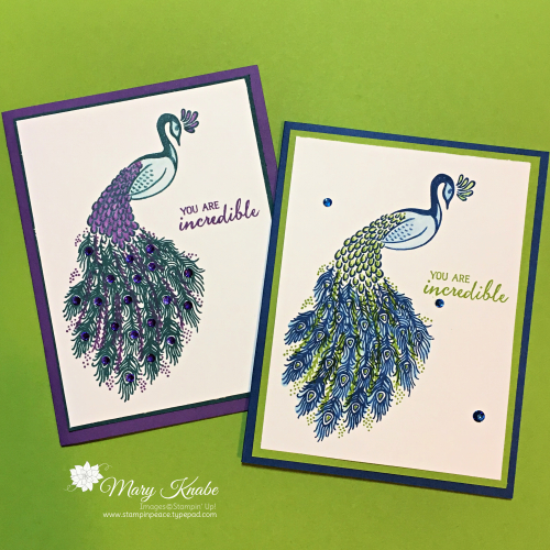 Royal Peacock Stamp Set by Stampin' Up!