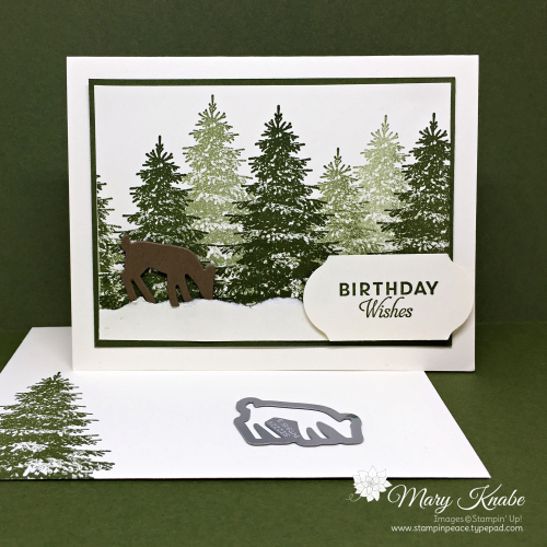 Winter Woods Stamp Set & Detailed Deer Dies by Stampin' Up!