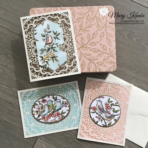 Bird Ballad Laser-Cut Cards & Tin with Bird Ballad Designer Series Paper
