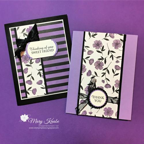 Honey Bee Stamp Set, Golden Honey Specialty Designer Series Paper, and Highland Heather Ink