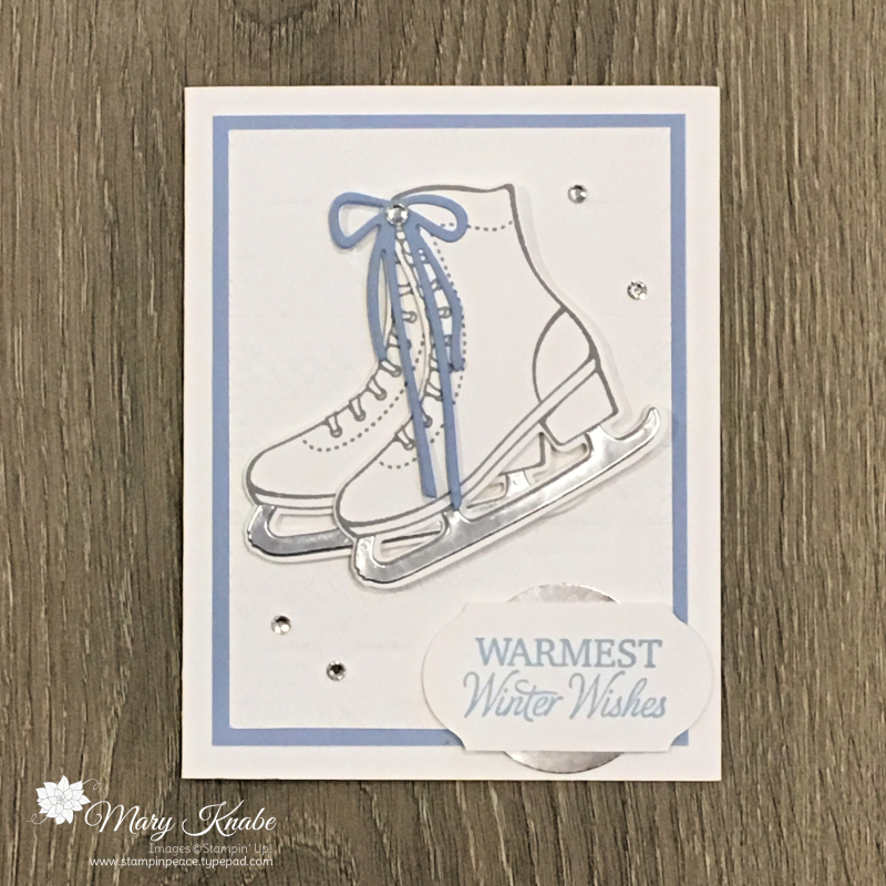 Free Skate Stamp Set, Detailed Skated Dies,  & WInter Knit Embossing Folder by Stampin' Up!