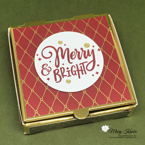 1Christmas Time is Here Specialty Designer Series Paper, Everything Festive Stamp Set, & Gold Glitter Enamel Dots by Stampin' Up!!