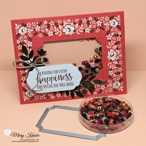 Kerchief Card Kit, Painted Labels Dies, Peaceful Poppies Sequins